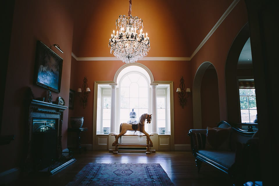 Rocking horse on landing at Rockley Manor