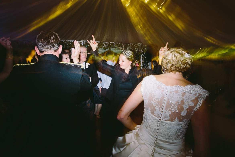 Everyone dancing on the dancefloor
