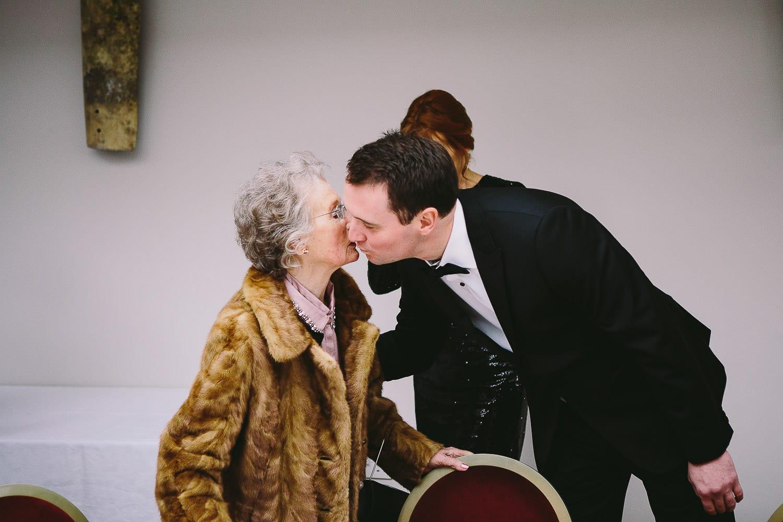 the groom greeting granny