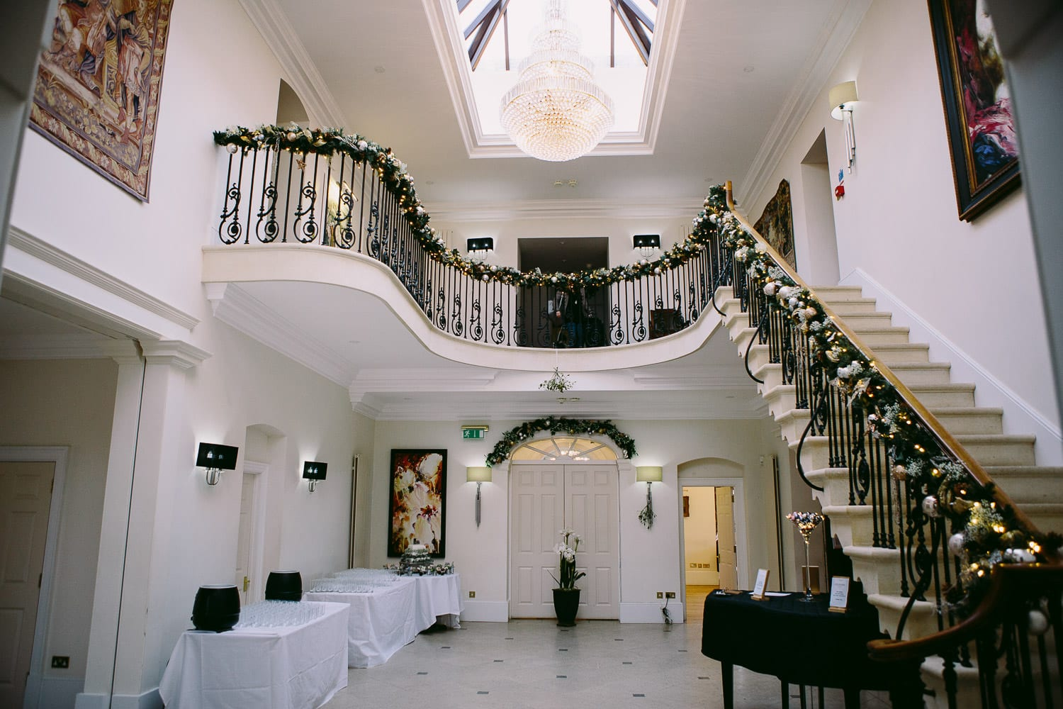 The entrance hall at Old Down Manor
