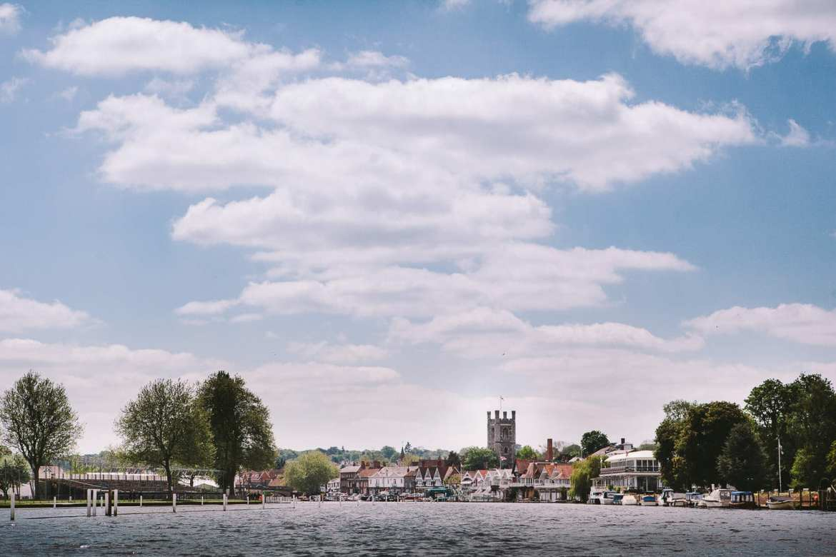 A view of Henley as the boat approaches