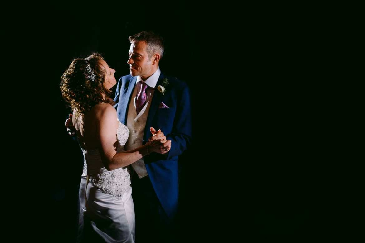 Bride and grooms first dance at Greenlands