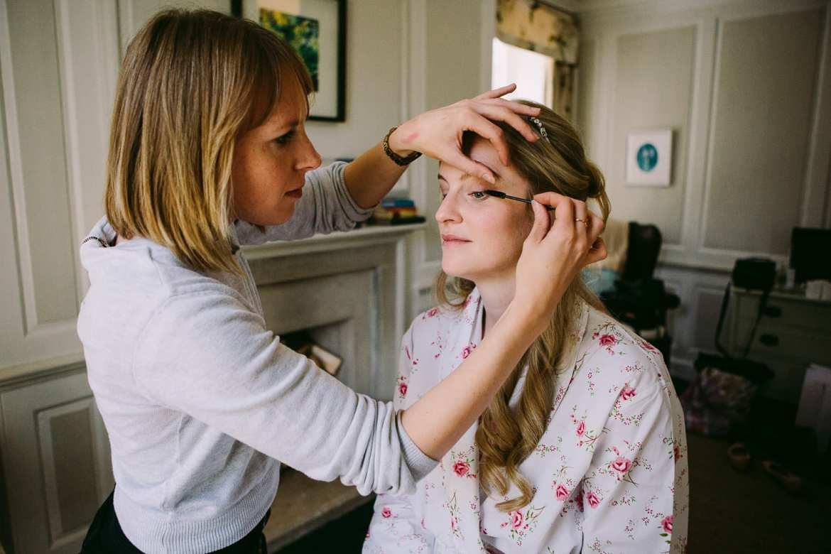 Bride makeup at The Rectory Hotel