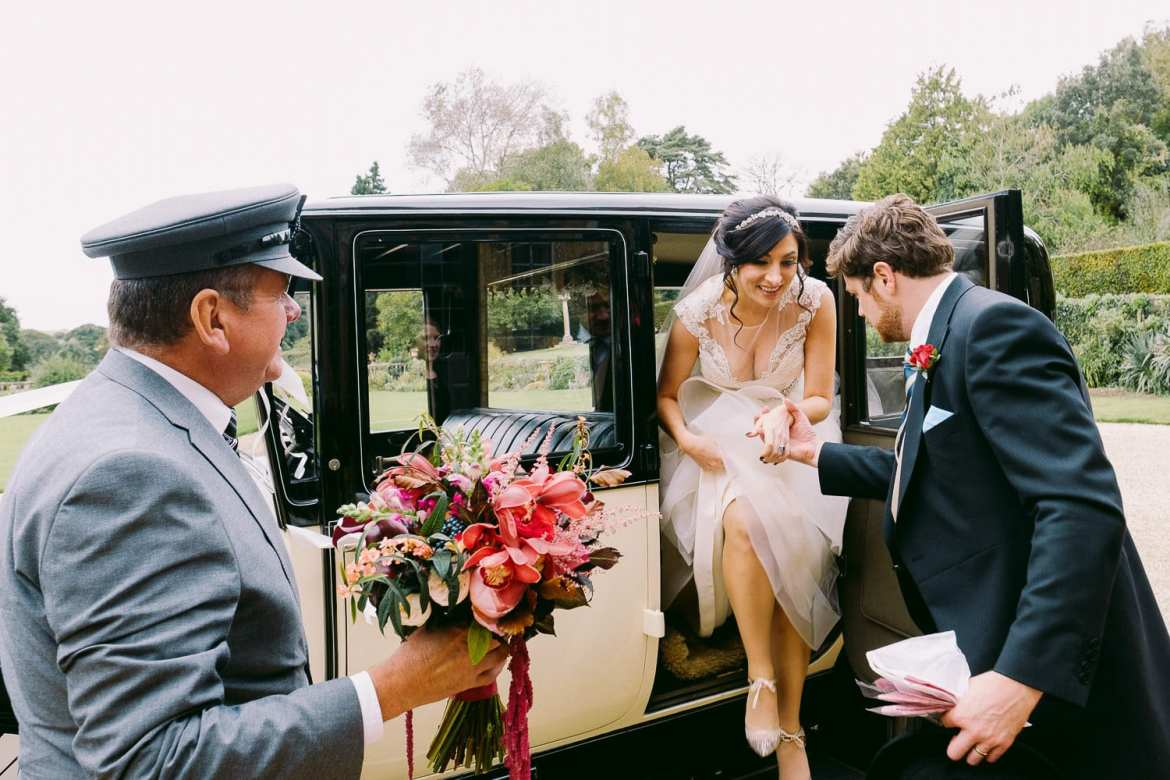 The newlyweds arrive at Brympton House