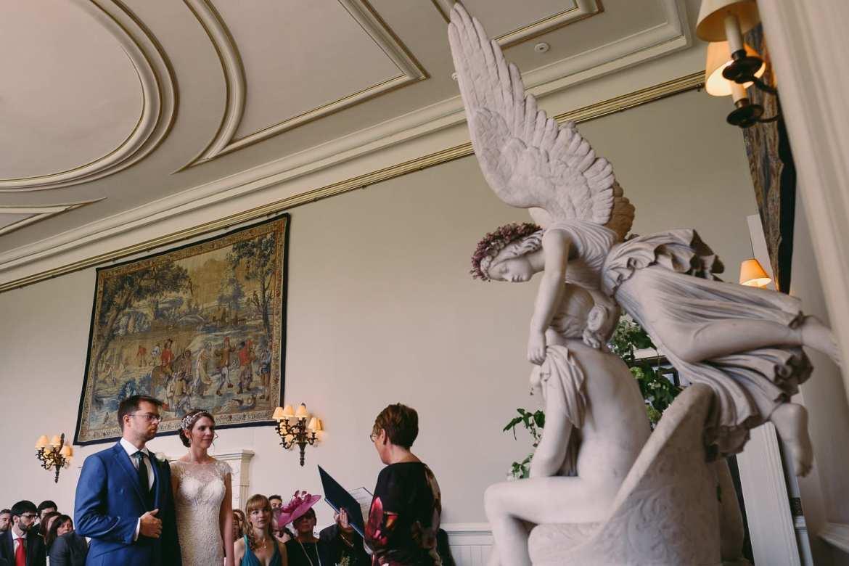 The wedding ceremony at Elmore Court