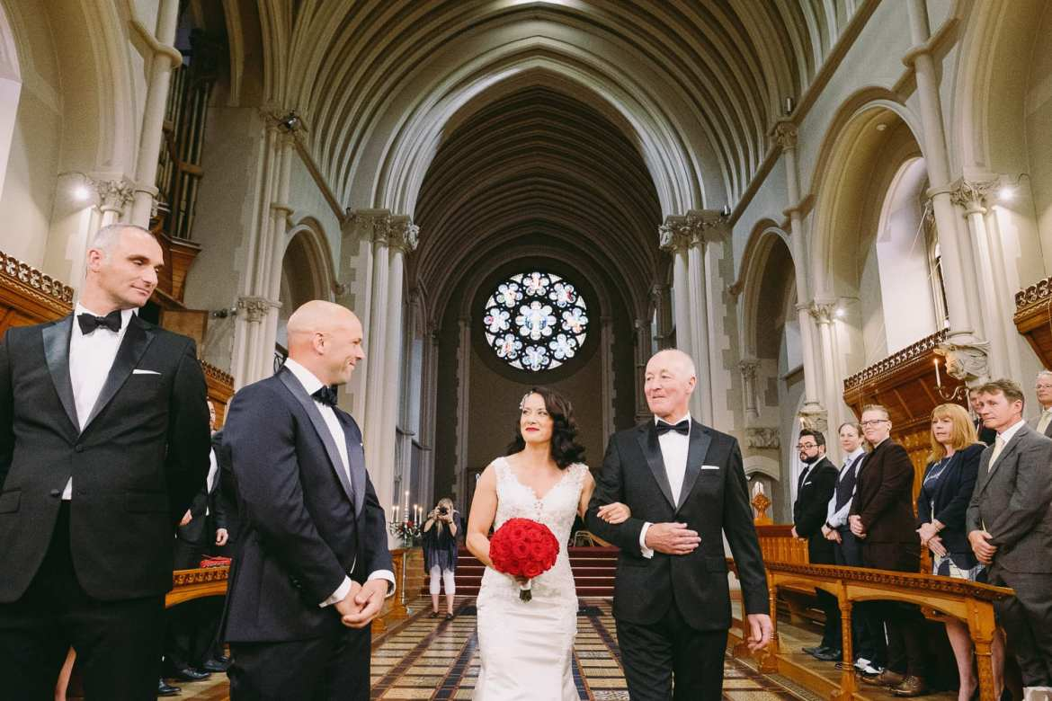 The wedding ceremony in the Callow Great Hall