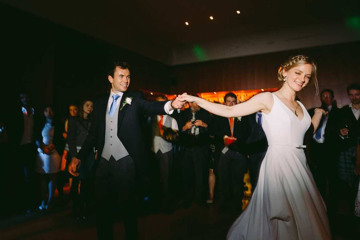 Bride and grooms first dance at Cowley Manor