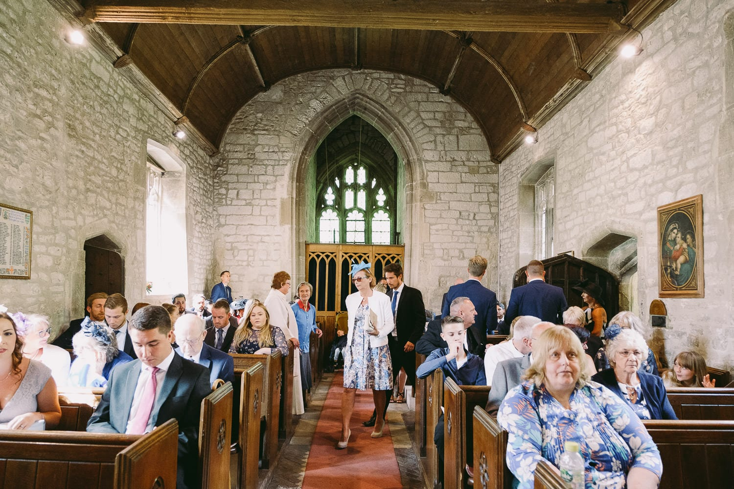 The guests arrive at the church