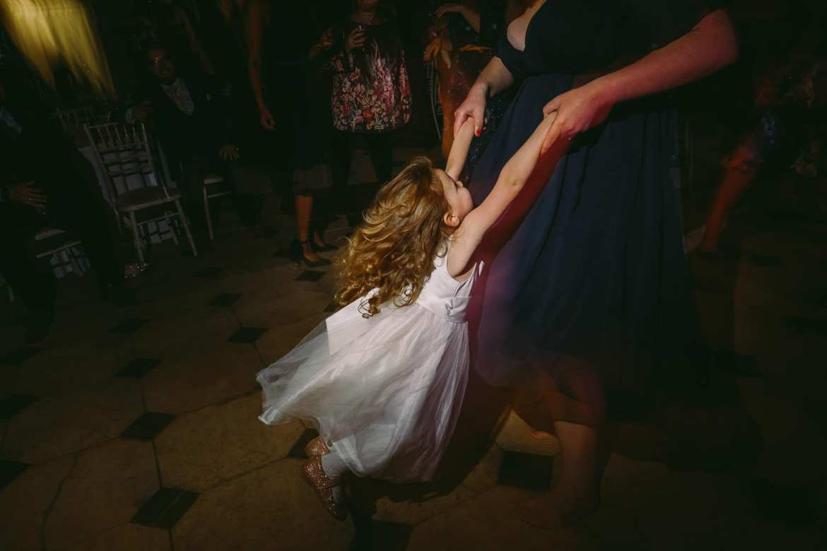 the flower girl dancing
