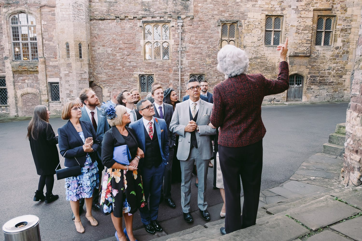 The guests take a tour of the castle