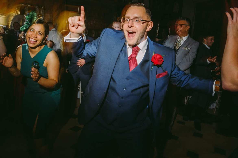 The best man dancing