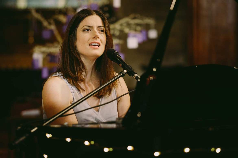 Callaghan sings at her sister's wedding