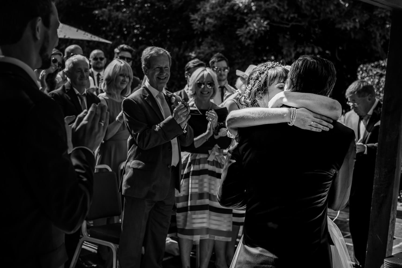 The wedding ceremony at Sudbury House Hotel