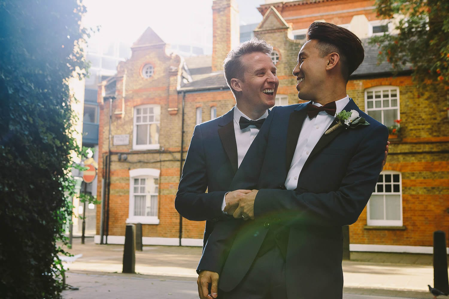 A portrait of the grooms in London