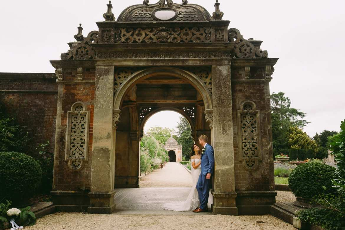 bridal portraits at Westonbirt House gardens