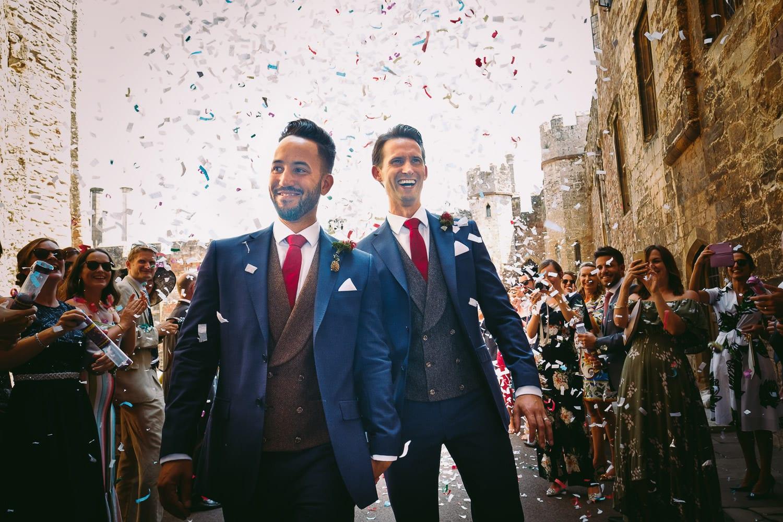 Gay wedding at Berkeley Castle