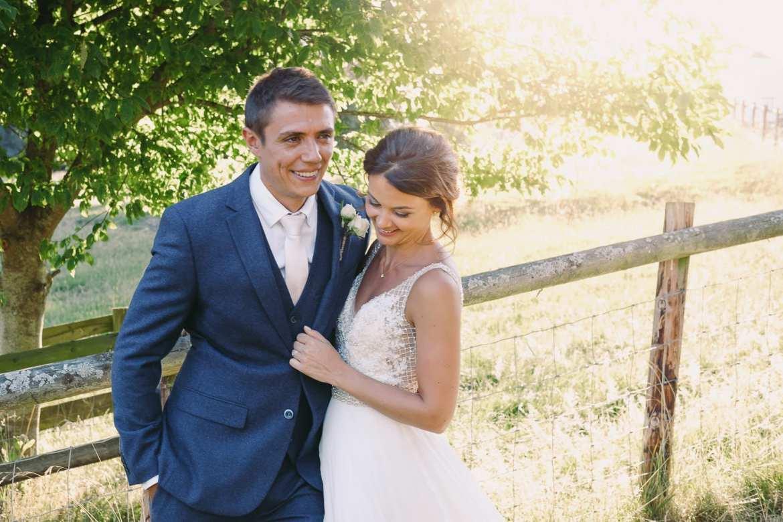 A summer wedding at Kingscote Barn
