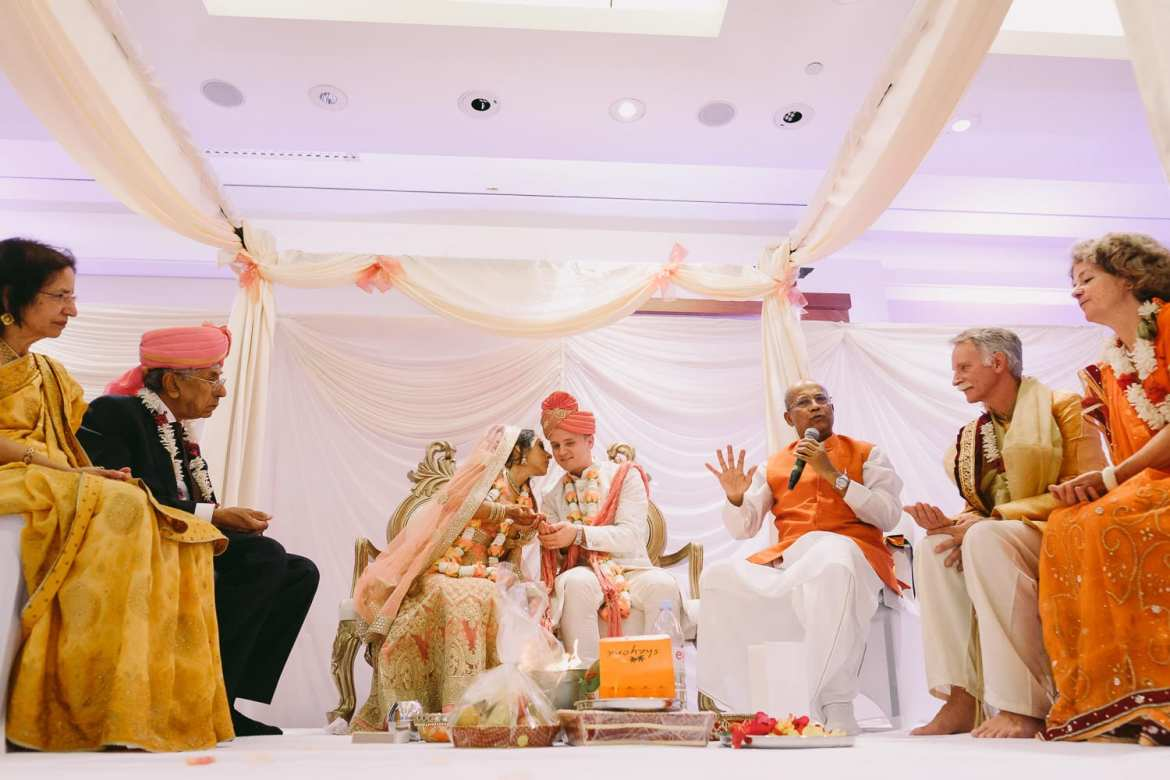 The Indian wedding ceremony at The Royal Garden Hotel