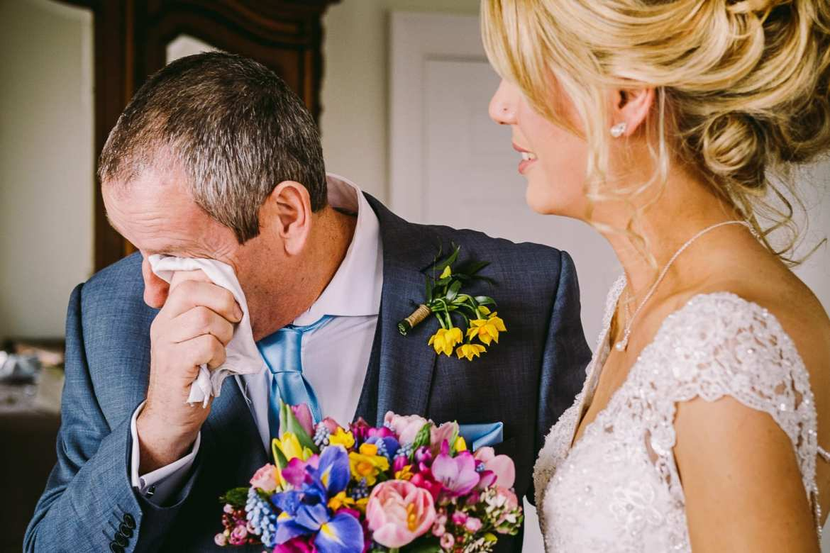 father of the bride cries