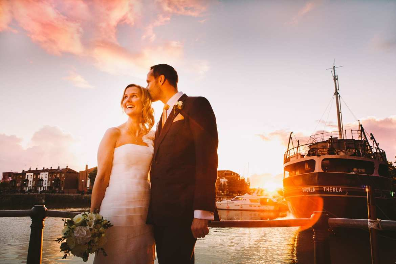 newlyweds in bristol