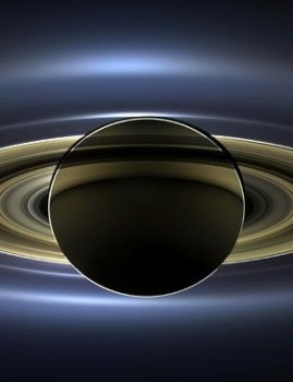 Saturn photographed as Earth smiled
