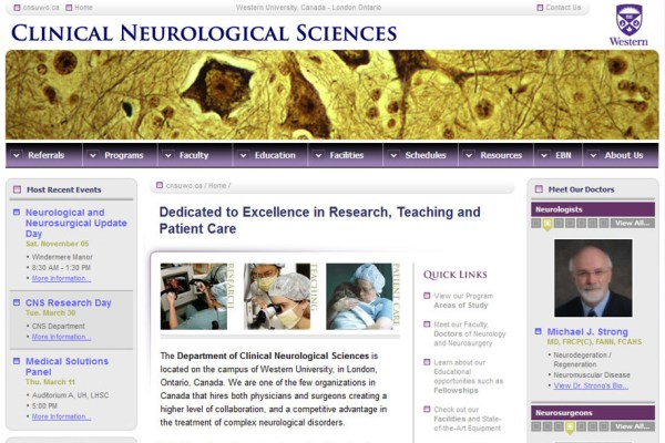 Clinical Neurological Sciences Website Cover