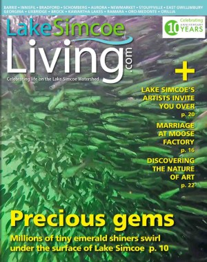 Lake Simcoe Living Magazine Cover - Emerald Shiners by Kevin Biskaborn
