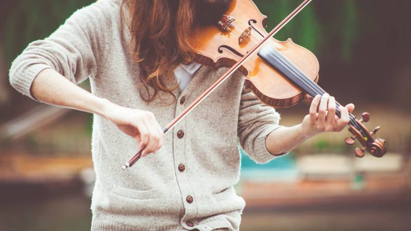 Minha primeira experiência com violino