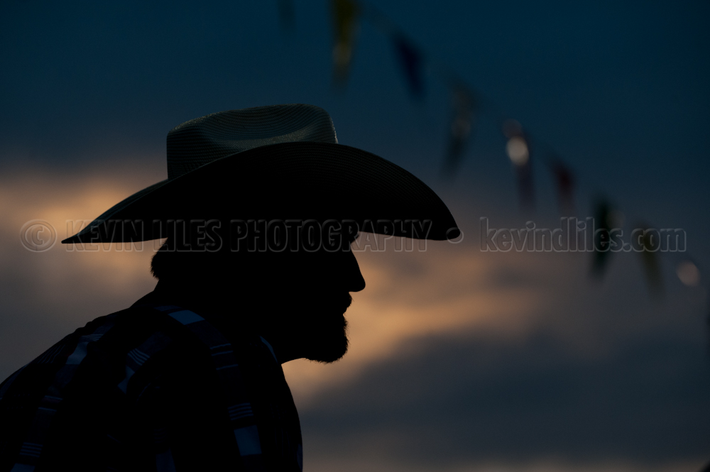 Justin Milford watches the Shady Dale Rodeo.