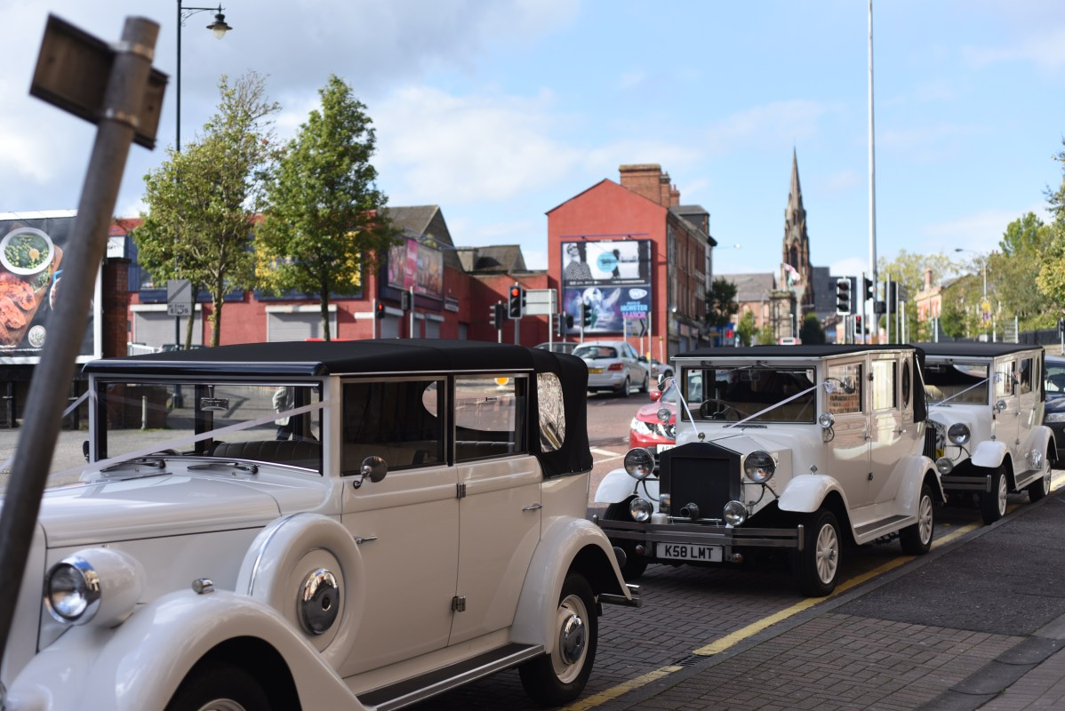 Wedding Car's in Donegal Street, Belfast.