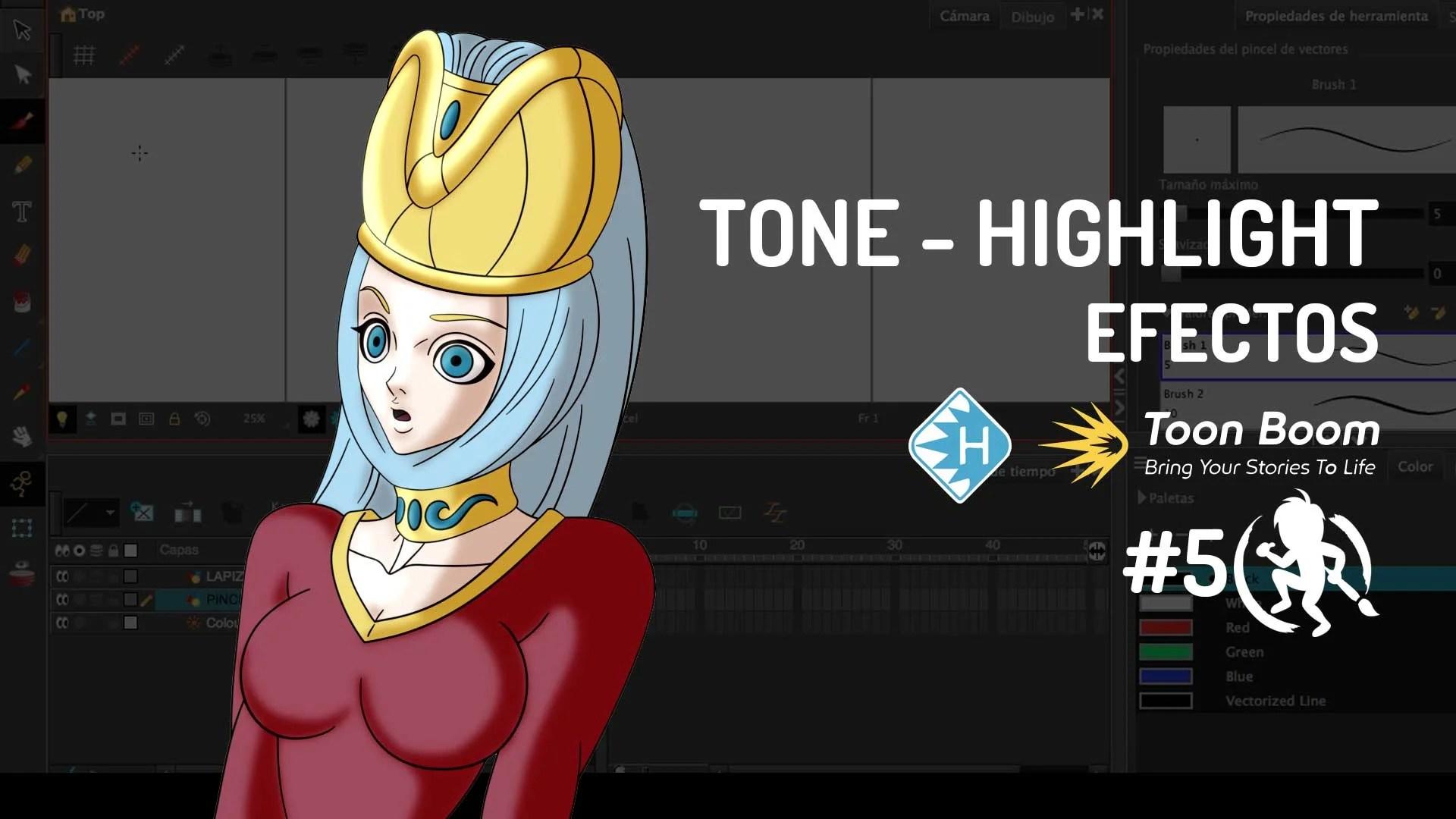 """Efecto """"Tone"""" y """"Highlight"""" en Toon Boom Harmony"""
