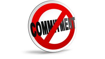 No commitment graphic