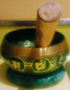 photo of meditation singing bell
