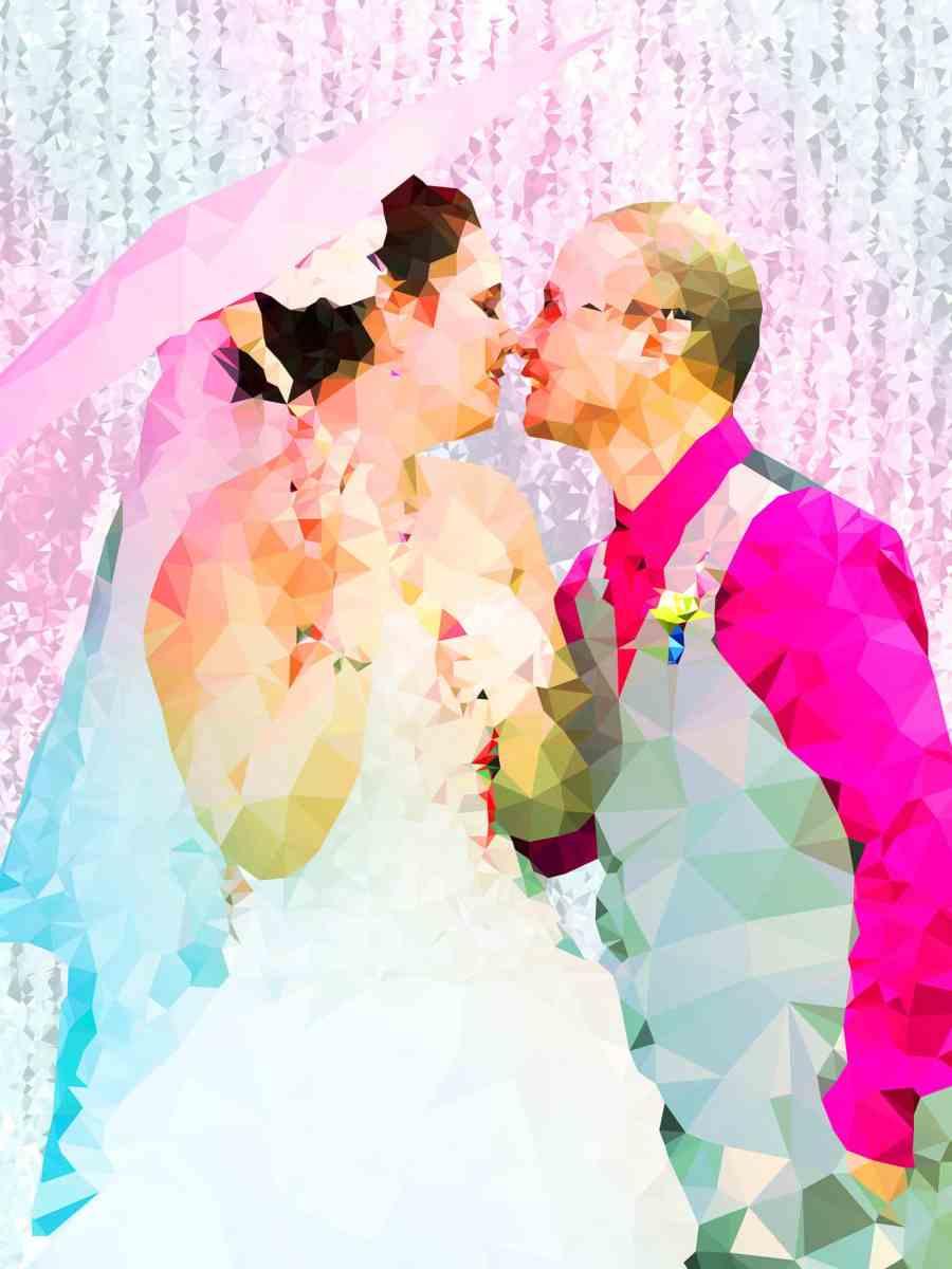 Crystalline Wedding Portraiture by Kevin Halfhill