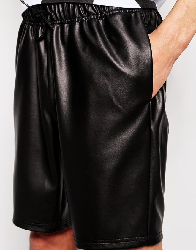 LEATHER SHORTS by ASOS