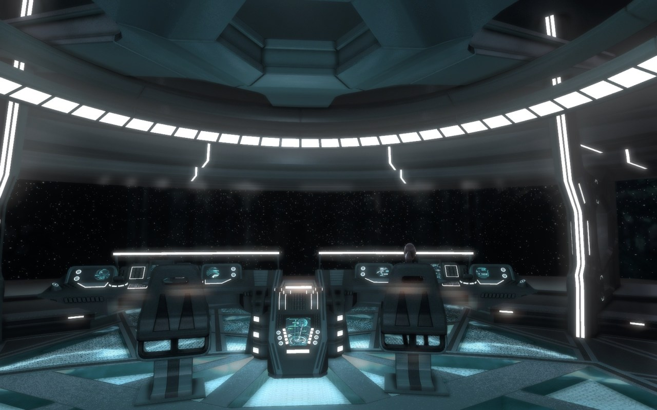 STAR TREK ONLINE | The Tier six Kelvin Intel Dreadnought Cruiser- Vengeance Class - Bridge from the captain's chair