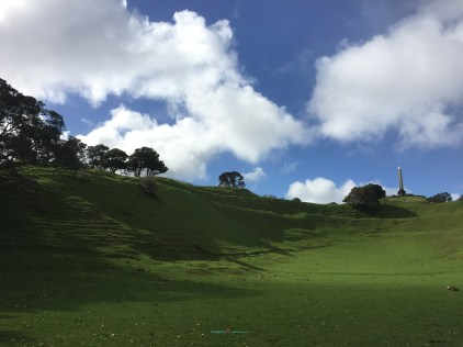 During wartime.. World war two One Tree Hill, Cornwall Park was once a United States military barracks in which this area field was place where it's training also a well played rugby..