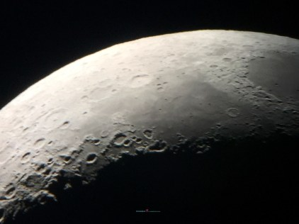 the 24th October 2017 moon four days away from the new moon..