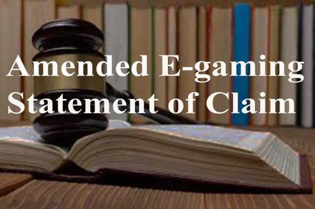 Egaming statement of claim