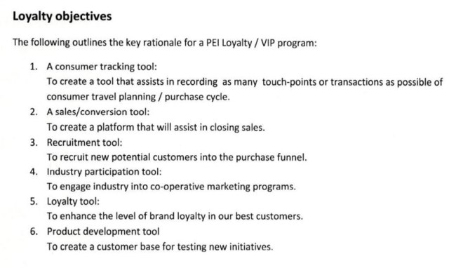 Loyalty Objectives