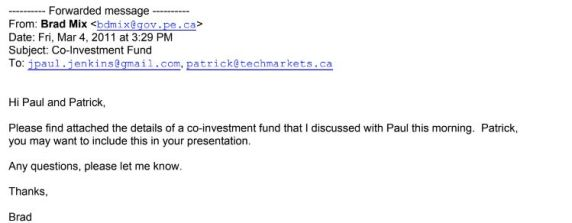 March 4 email from brad to paul jenkins