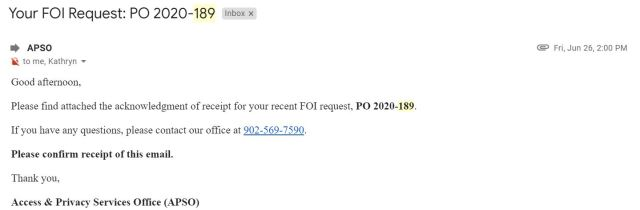 June 28 email from Kathyrn Dickson