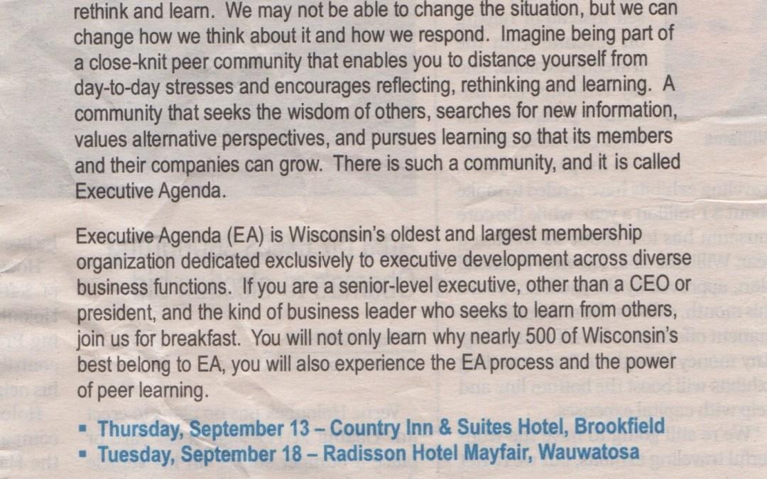 Executive Agenda Spec Ad