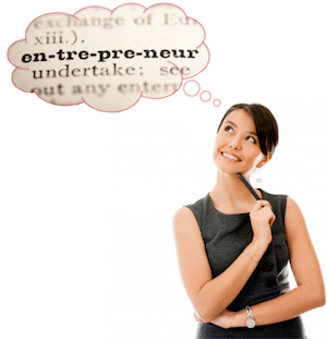 """Woman asking the question, """"What is Entrepreneurship?"""""""