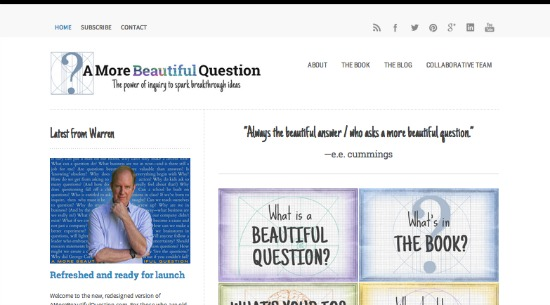 A More Beautiful Question website
