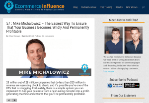Ecommerce Influence 57 : Mike Michalowicz