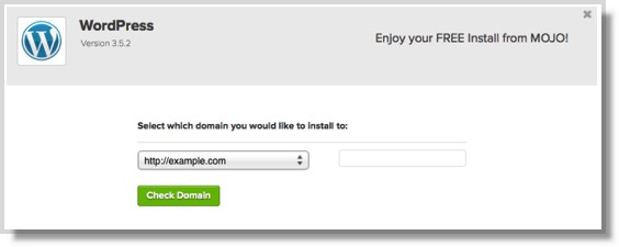 image of select domain in Bluehost to install WordPress