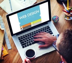 Web design freelancer working remotely
