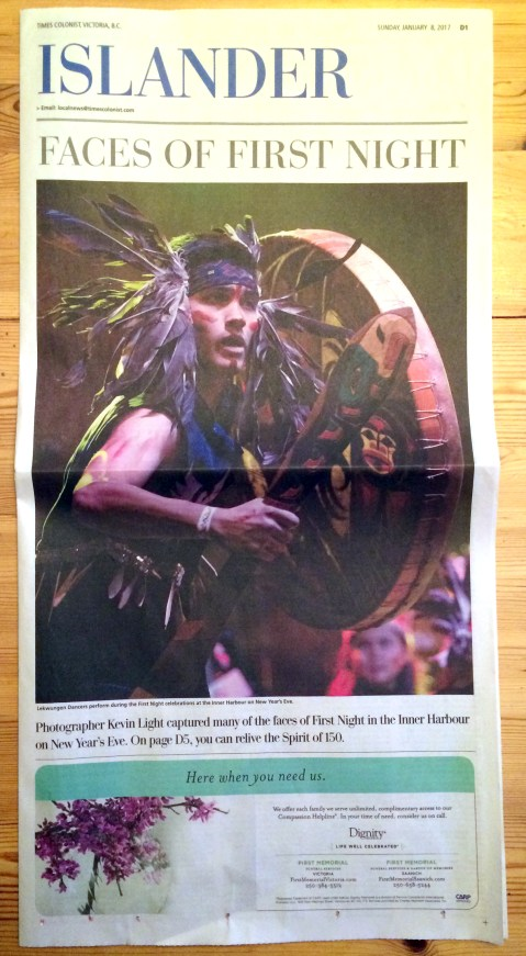 times-colonist-islander-cover-first-night-kevin-light-photo