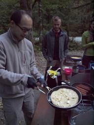 Morning breakfast - banana pancakes!